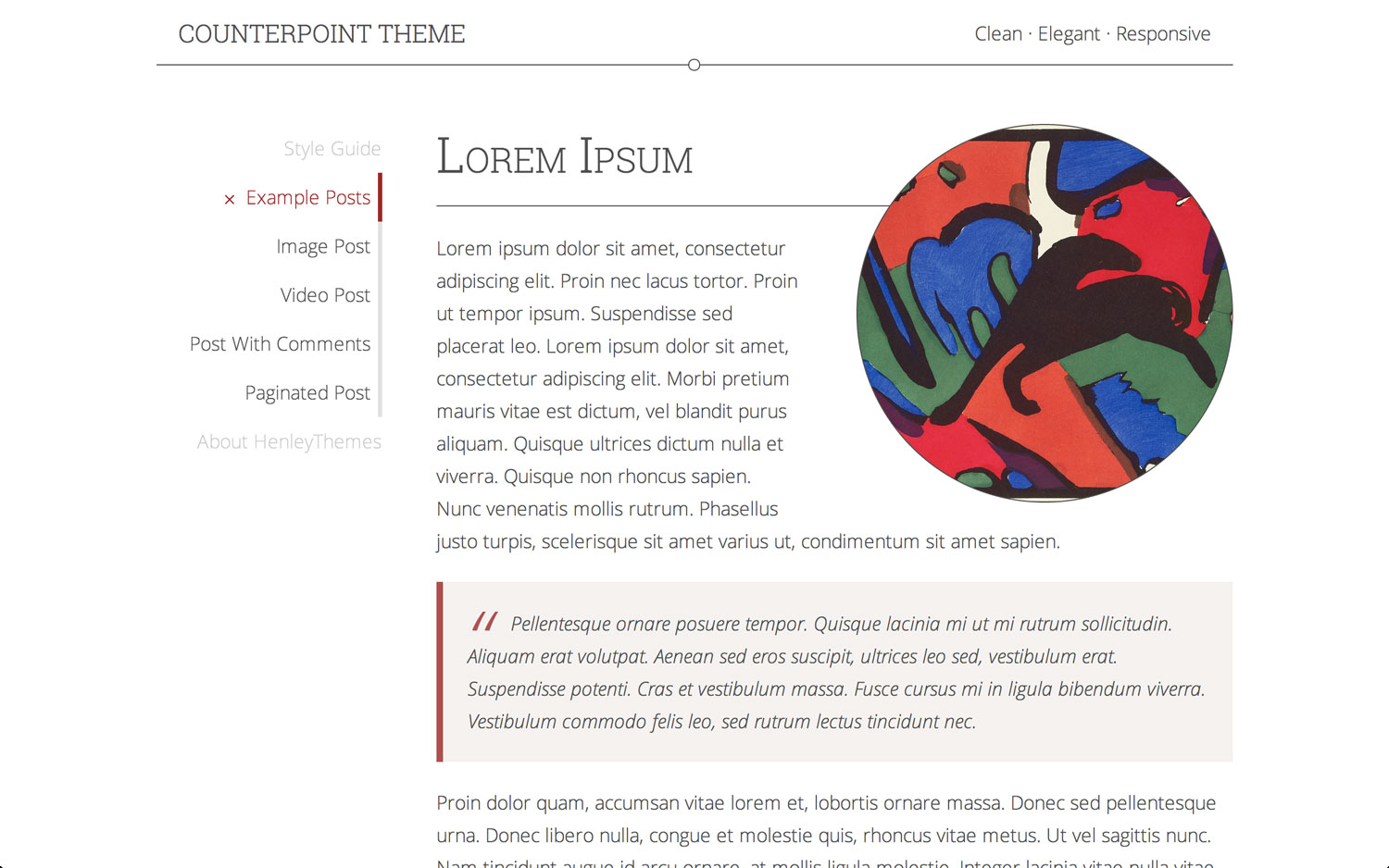 Counterpoint - A Theme for WordPress